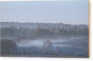 Spooky Winters Morning Wood Print by Karen Grist