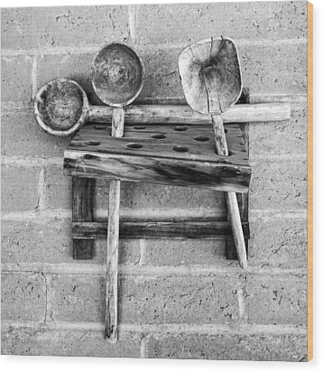 Wood Print featuring the photograph Spoon Rack by Beverly Parks