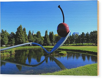 Spoonbridge And Cherry 3 Wood Print by Rachel Cohen