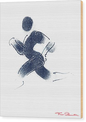 Sport A 1 Wood Print by Theo Danella