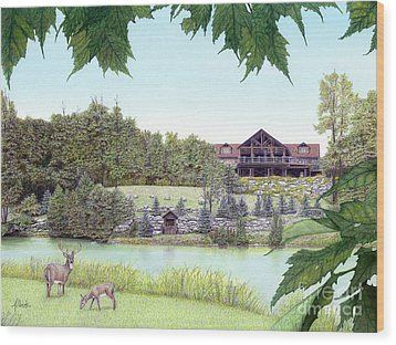 Sporting Clays At Seven Springs Mountain Resort Wood Print by Albert Puskaric