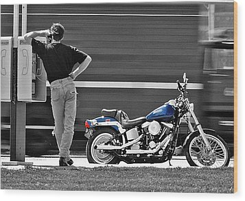 Sportster Calling Wood Print by Christopher McKenzie