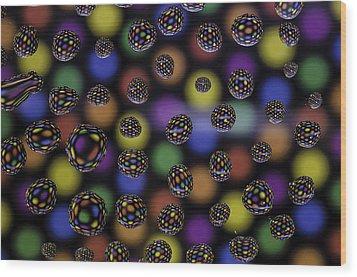 Spots And Circles Wood Print by Mark Stewart
