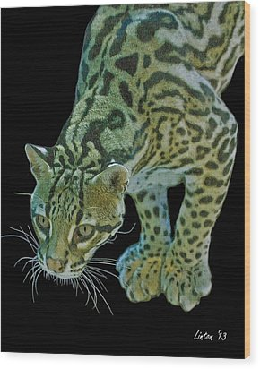 Spotted Predator Wood Print by Larry Linton
