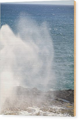 Wood Print featuring the photograph Spouting Horn II by Alohi Fujimoto