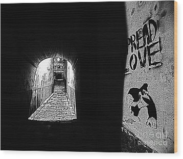 Spread Love Wood Print by Andy Prendy