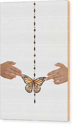Spread Your Butterfly Wings Wood Print by Dario Infini