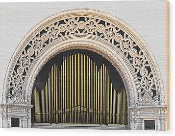 Spreckels Organ Balboa Park San Diego Wood Print by Christine Till