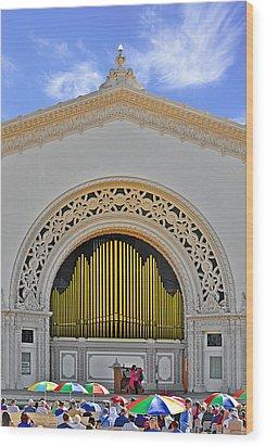Spreckles Organ San Diego Wood Print by Christine Till