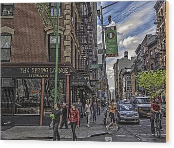 Spring And Mulberry - Street Scene - Nyc Wood Print