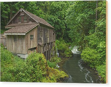 Spring At Cedar Creek Grist Mill Wood Print by Patricia Davidson