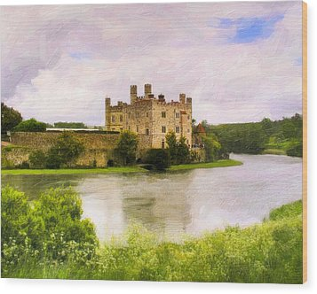 Spring At Leeds Castle Wood Print by Mark E Tisdale