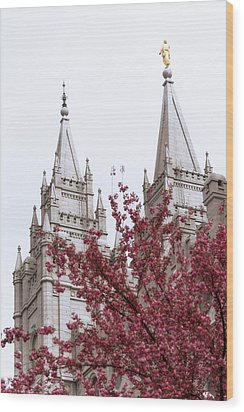 Spring At The Temple Wood Print by Chad Dutson