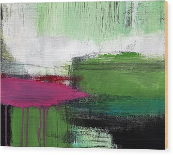 Spring Became Summer- Abstract Painting  Wood Print by Linda Woods