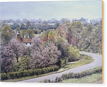 Wood Print featuring the painting Spring Blossom by Rosemary Colyer