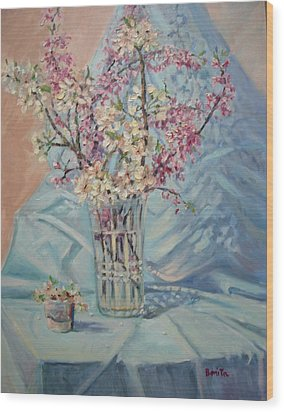 Spring Blossoms Wood Print