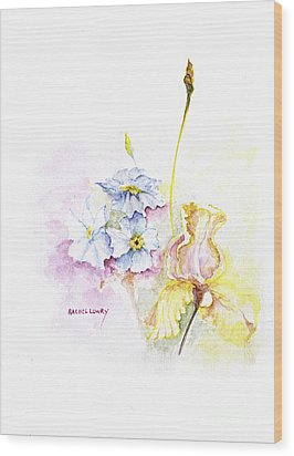 Wood Print featuring the painting Spring Bouquet by Rachel Lowry