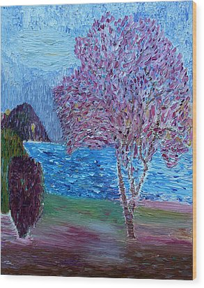 Spring Crabapple Tree Wood Print by Vadim Levin