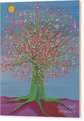 Spring Fantasy Tree By Jrr Wood Print