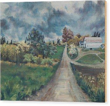 Spring Farm Wood Print by Joy Nichols