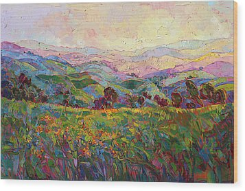 Spring Fling Wood Print by Erin Hanson
