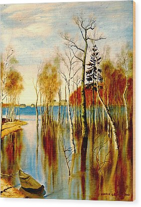 Spring Flood Wood Print