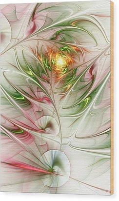 Spring Flower Wood Print by Anastasiya Malakhova