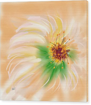 Spring Flower Wood Print by Angela A Stanton