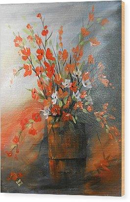 Spring Flower Bouquet Wood Print