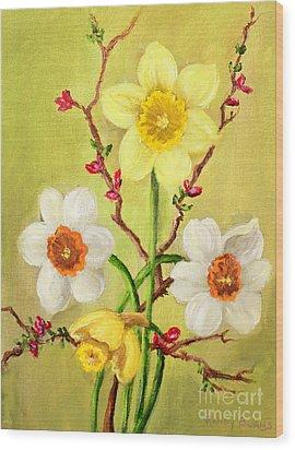 Spring Flowers 2 Wood Print by Randy Burns