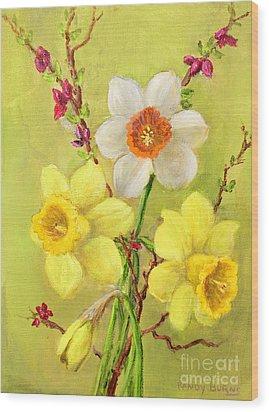 Spring Flowers Wood Print by Randol Burns