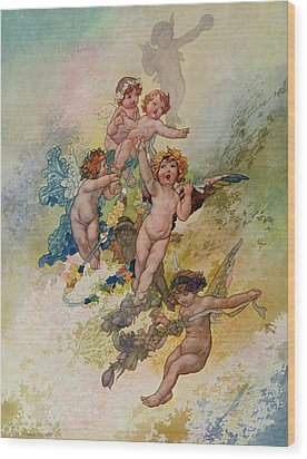 Spring From The Seasons Commissioned For The 1920 Pears Annual Wood Print by Charles Robinson