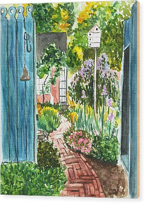 Wood Print featuring the painting Spring Garden by Clara Sue Beym