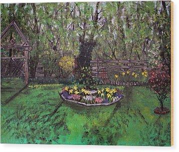 Spring Garden Wood Print by Judy Via-Wolff