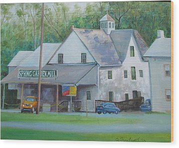 Spring Garden Mill Playhouse Wood Print by Oz Freedgood