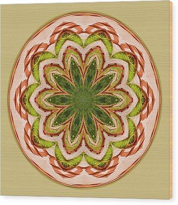 Spring Grasses Mandala Wood Print