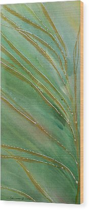 Spring Grasses Wood Print by Susan Crossman Buscho