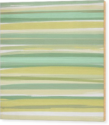 Spring Green Wood Print by Lourry Legarde