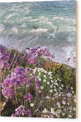 Wood Print featuring the photograph Spring Greets Waves by Susan Garren