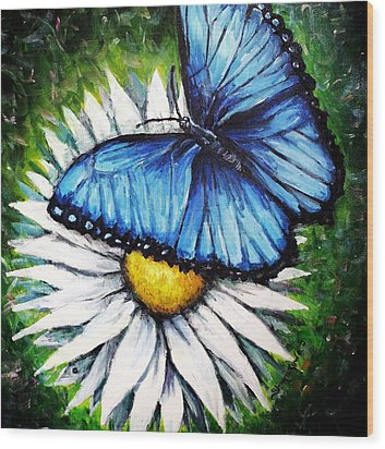 Wood Print featuring the painting Spring Has Sprung by Shana Rowe Jackson