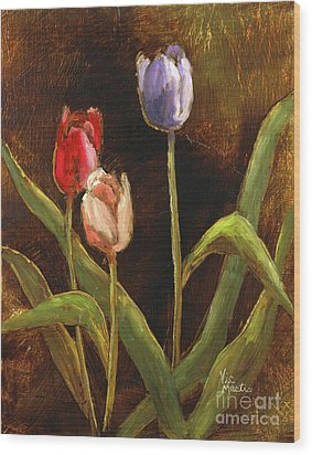 Wood Print featuring the painting Spring Has Sprung by Vic  Mastis