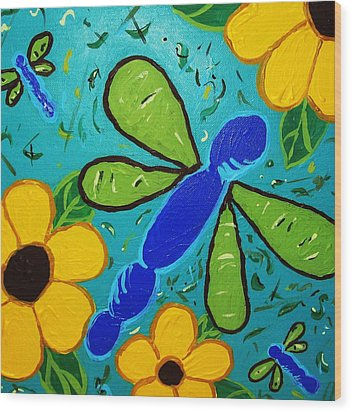 Wood Print featuring the painting Spring Has Sprung by Yshua The Painter