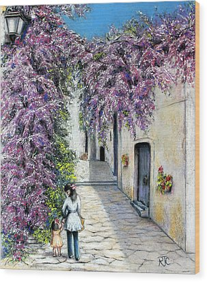 Spring In Andalucia Wood Print by Rosemary Colyer