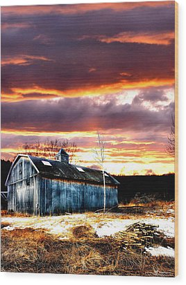 Spring In New England Wood Print by Fred LaPoint