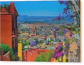 Spring In San Miguel De Allende Wood Print