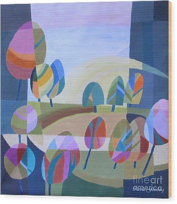 Spring In The Air Wood Print by Carola Ann-Margret Forsberg