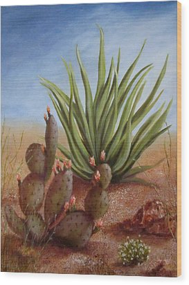 Spring In The Desert Wood Print by Roseann Gilmore