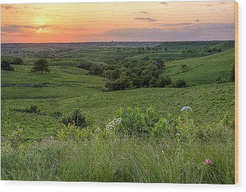 Spring In The Flint Hills Wood Print