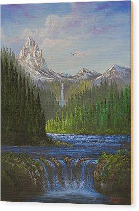 Spring In The Rockies Wood Print by C Steele
