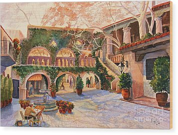 Spring In Tlaquepaque Wood Print by Marilyn Smith